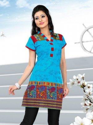 Indian Bollywood Cotton Partywear Kurti Kurta Tops - X 1012B
