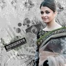 Indian Bollywood Designer Embroidered Aishwarya Sarees Sari - RS 2008