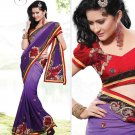 Bridal Pure Georgette Georgeous Embroidered Sarees Sari With Blouse - X 1011 N