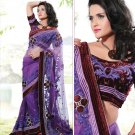 Bridal Net Pure Velvet Georgeous Embroidered Sarees Sari With Blouse - X 1016 N