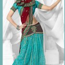 Partywear Brasso Designer Lehenga Emrbrodered Sari With Blouse - TS 30016 N