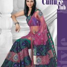 Partywear Net Embroidered Sari With Unstitch Blouse - TS 30007 N