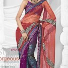 Partywear Net Embroidered Sari With Unstitch Blouse - TS 30012 N