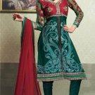 Net & Chiffon Partywear Embroidered Shalwar & Salwar Kameez - X 3437 N