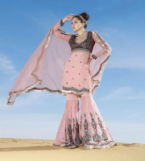 Viscose Partywear Embroidered Shalwar & Salwar Kameez With Dupatta - X 7197A N