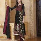 Georgette Partywear Embroidered Shalwar & Salwar Kameez With Dupatta - X 7195A N
