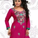 Indian Bollywood Cambric Cotton Partywear Embroidered Kurti Kurta Tops - X 112a