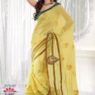 Faux Georgette Wedding Embroidered Bollywood Sarees Sari With Blouse - VF 466 N