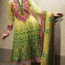Georgette & Chiffon Partywear Embroidered Shalwar & Salwar Kameez - X 3405 N