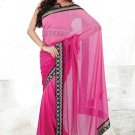 Faux Georgette Partywear Designer Embroidered Saree Sari With Blouse - MF 09   N