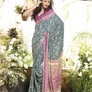 Crepe Casual Partywear Printed Saree Sari With Unstitch Blouse - VF 4809a N