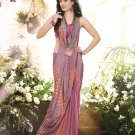 Crepe Casual Partywear Printed Saree Sari With Unstitch Blouse - VF 4803a N