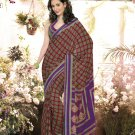 Crepe Casual Partywear Printed Saree Sari With Unstitch Blouse - VF 4812b N