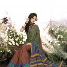 Crepe Casual Partywear Printed Saree Sari With Unstitch Blouse - VF 4805a N