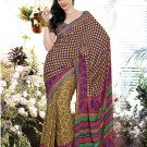 Crepe Casual Partywear Printed Saree Sari With Unstitch Blouse - VF 4805b N
