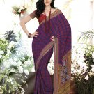 Crepe Casual Partywear Printed Saree Sari With Unstitch Blouse - VF 4812a N
