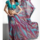 Indian Womens Clothing Saree Printed Saree Sari - X5625A