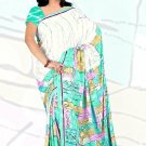 Sari Saree Jacquard Crepe Printed Designer Sarees With Blouse - X 2097c N