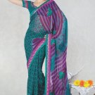 Faux Georgette Bridal Wedding Designer Embroidered Saree with Blouse - X 1501 N