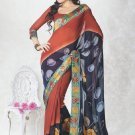 Faux Georgette Bridal Wedding Designer Embroidered Saree with Blouse - X 1505 N