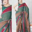 Faux Georgette Bridal Wedding Designer Embroidered Saree with Blouse - X 1504 N