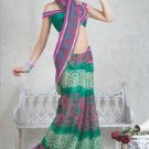 Faux Georgette Bridal Wedding Designer Embroidered Saree with Blouse - X 1509 N