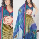 Faux Georgette Bridal Wedding Designer Embroidered Saree with Blouse - X 1522 N