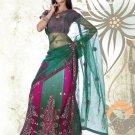 Partywear Net Exclusive Embroidery Lehenga Sari With Blouse - GW Snehal N