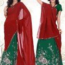 Partywear Faux Georgette Embroidery Lehenga Sari With Blouse - GW Shivani B N