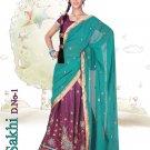 Partywear Crepe Jacquard Embroidery Lehenga Sari With Blouse - GW Sakhi N