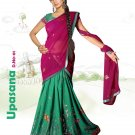 Partywear Faux Georgette Embroidery Lehenga Sari With Blouse - GW Upashana N
