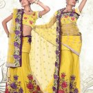 Partywear Net Exclusive Embroidery Lehenga Sari With Blouse - GW PC5010 N