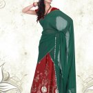 Partywear Faux Georgette Embroidery Lehenga Sari With Blouse - GW Tanushree A N