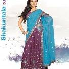 Partywear Faux Georgette Embroidery Lehenga Sari With Blouse - GW Shakuntala N