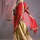 Partywear Crepe Jacquard Embroidery Lehenga Sari With Blouse - GW Zarina-01F N