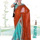 Partywear Faux Georgette Embroidery Lehenga Sari With Blouse - GW Rama N