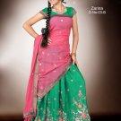 Partywear Crepe Jacquard Embroidery Lehenga Sari With Blouse - GW Zarina-03B N