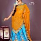 Partywear Crepe Jacquard Embroidery Lehenga Sari With Blouse - GW Zarina-03G N