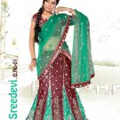 Partywear Viscose Net Embroidery Lehenga Sari With Blouse - GW Sridevi N