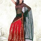 Partywear Faux Georgette Embroidery Lehenga Sari With Blouse - GW Anokhi N