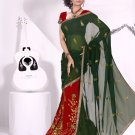 Partywear Faux Crepe Exclusive Embroidery Lehenga Sari With Blouse- GW Mahek D N