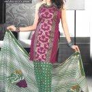 Shalwar & Salwar Kameez Dress Jacquard Satin Casual With Dupatta - X 04 N
