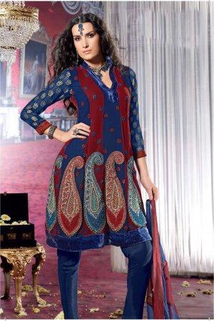 Dress Faux Georgette Wedding Shalwar & Salwar Kameez  With Dupatta - X 621 N