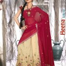 Partywear Faux Georgette Embroidery Lehenga Sari With Blouse - GW Heena B N
