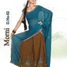Partywear Faux Georgette Embroidery Lehenga Sari With Blouse - GW Morni N