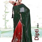 Partywear Faux Georgette Embroidery Lehenga Sari With Blouse - GW Dipti N