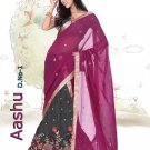 Partywear Crepe Jacquard Embroidery Lehenga Sari With Blouse - GW Aashu A N