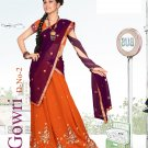 Partywear Faux Georgette Embroidery Lehenga Sari With Blouse - GW Gowri B N