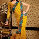Faux Georgette Casual Designer Embroidered  Sarees Sari With Blouse - X 122A N