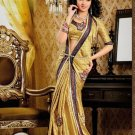 Faux Crepe Casual Designer Embroidered  Sarees Sari With Blouse - X 138A N